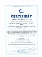 Certificate of safety<br>Double-phase-hu-grade proteine (bilberry) Siberian Super Natural Sport. Double-phase hi-grade protein (bilberry), 375 g