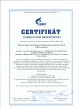 Certificate of safety<br>Double-phase-hu-grade proteine (wild strawberry) Siberian Super Natural Sport. Double-phase hi-grade protein (strawberry), 375 g