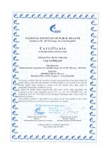 Certificate of safety  Siberian Pure Herbs Collection. Leg cooling gel, 75 ml