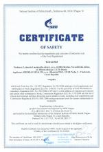 Certificate of safety Tetrardiol Food supplement Tetradiol, 30 capsules