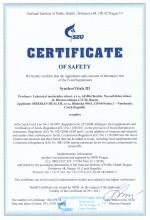 Certificate of safety<br>SynchroVitals III Food supplement SynchroVitals III, 150 capsules