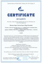 Certificate of safety<br>Mega Essential Siberian Super Natural Sport. Mega Essentials, 120 tablets
