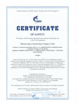Certificate of safety<br>Omega-3 Ultra Siberian Super Natural Sport. Omega-3 Ultra, 120 capsules